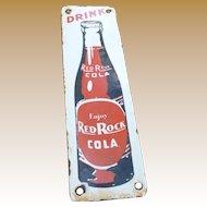 Red Rock Cola Porcelain Advertising Door Push
