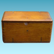 Unusual Wood Box Patented 1889 - Singer Sewing Attachments