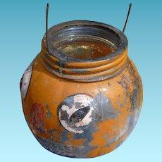 Glass Halloween Jack O Lantern