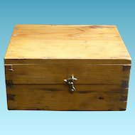 Wonderful Old Dovetailed Wood Box Apothecary