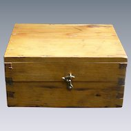 Wonderful Old Dovetailed Wood Box Apothecary