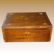Antique Pennsylvania Dutch Inlaid Wood Document Box