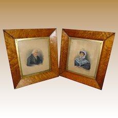 Fine 19th Century Pair Of Regency Portraits