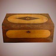 Gorgeous Inlaid Wood Document Box