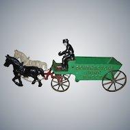 Arcade Cast Iron Contractors Dump Wagon