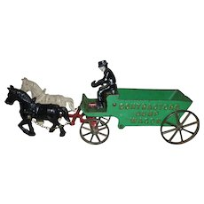 Arcade Cast Iron Contractors Dump Wagon