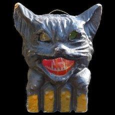Pulp Cat On A Fence Halloween Lantern