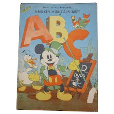 Walt Disney Presents A Mickey Mouse Alphabet Children's Book