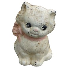 Precious Hubley Cast Iron Kitten Bank