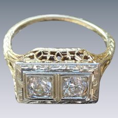 14K Diamond Ring In Exquisite Setting