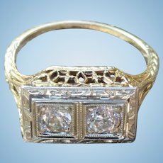 14K Diamond Ring In Exquisite Setting