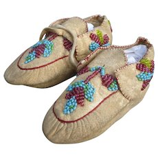 Eastern Woodlands Indian Child's Moccasins Native Americans