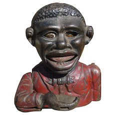 Little Joe Cast Iron Black Americana Mechanical Bank