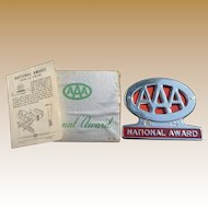 AAA National Award Trunk Emblem In Original Box