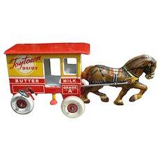 Marx Toytown Dairy Tin Wind Up Toy