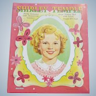 Shirley Temple Paper Dolls - 18 1/2 Inch Folding Doll
