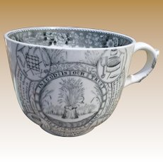 Adams Staffordshire Transfer Farmers Arms Large Cup