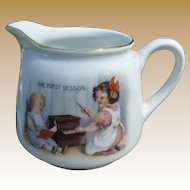 "Sweet Germany Child's Creamer ""The First Lesson"""