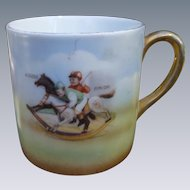 Precious Child's Mug - Little Boys On  Rocking Horses