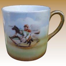 Precious Child's Mug - Little Boys On  Rocking Horses