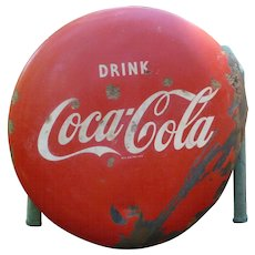 Coca Cola 24 Inch Button Advertising Sign