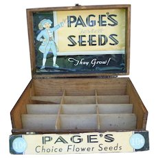 Page Seeds Store Display Seed Box