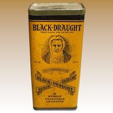 Tall Black Draught Vegetable Laxative Tin