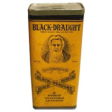 Tall Black Draught Vegetable Laxative Tin