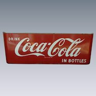 Porcelain Coca Cola Sled Advertising Sign
