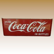 Porcelain Coca Cola Sled Advertising Sign