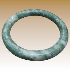 Gorgeous Chinese Apple Green Jade Bangle Bracelet