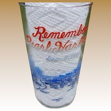 Remember Pearl Harbor Glass
