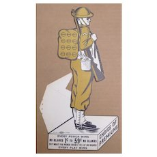 WWI Doughboy Punch Card Trade Stimulator