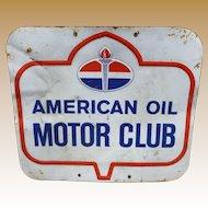 American Oil Motor Club Advertising Sign