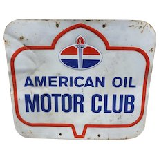 American Oil Motor Club Advertising Sign