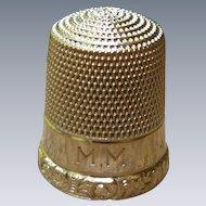 Vintage 10K Gold Simon Bros. Thimble