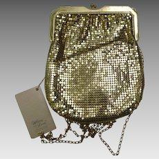 Vintage Whiting Davis Gold Mesh Purse NWT
