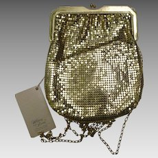 Vintage Whiting Davis Gold Mesh Purse NWT