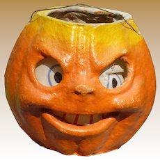 Paper Mache Halloween Pumpkin Lantern