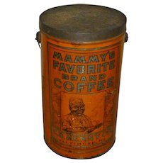 Mammy's Favorite Brand Coffee 4LB Tin Can Pail