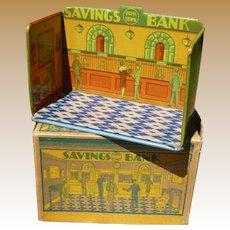 Marx Home Town Savings Bank With Original Box