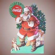 Coca Cola Christmas Santa Stand Up Advertising Sign