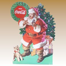 Coca Cola Christmas Santa Stand Up Advertising Sign