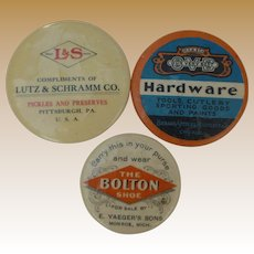 Celluloid Advertising Mirrors