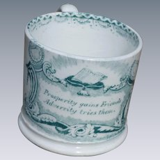Child's Pearlware Motto Cup Transfer