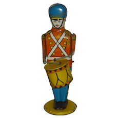 "Wolverine Wind Up 13"" Drumming Soldier Tin Lithographed Toy"