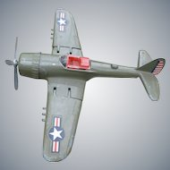 Hubley WWII Toy Fighter  Airplane