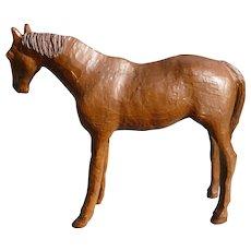 Folk Art Carved Wooden Horse