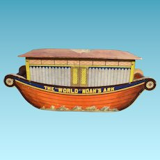 Bliss Noah's Ark Wheeled Paper Over Wood Toy