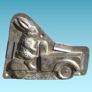 Heris Rabbit Driving Cargo Hauler Chocolate Mold